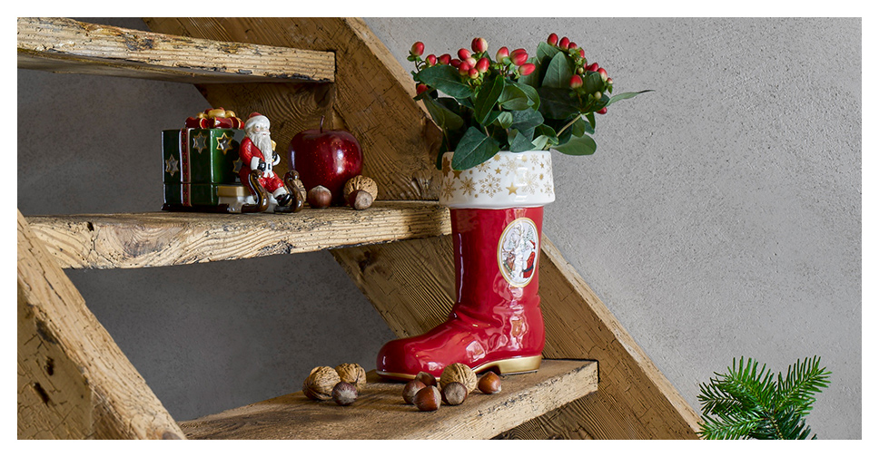 Classic Christmas decorations from Villeroy & Boch will fill your home with winter splendour